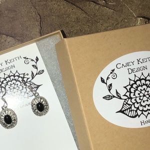 Casey Keith Design Jewelry - Onyx & Sterling Earrings